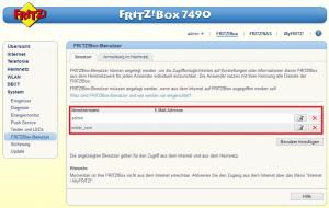 Die Konfiguration einer Fritzbox